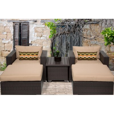 Belle 5 Piece Seating Group with Cushion Fabric: Wheat