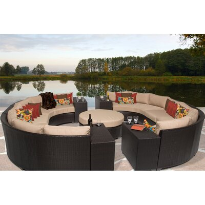 Barbados 11 Piece Sectional Seating Group with Cushion Fabric: Wheat