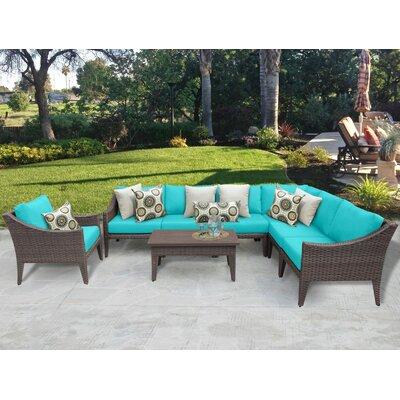 Manhattan 8 Piece Deep Seating Group with Cushion Fabric: Aruba