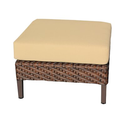 Carmel Ottoman with Cushion Fabric: Sesame