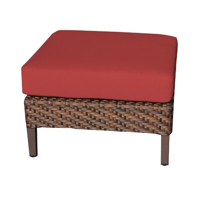 Carmel Ottoman with Cushion Fabric: Terracotta