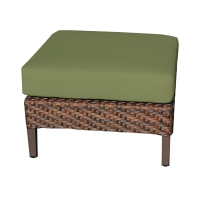 Carmel Ottoman with Cushion Fabric: Cilantro