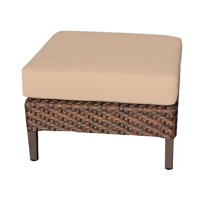 Carmel Ottoman with Cushion Fabric: Wheat