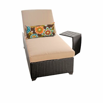 Classic 2 Piece Chaise Lounge Set with Cushion Fabric: Wheat