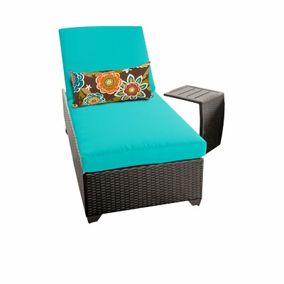 Classic 2 Piece Chaise Lounge Set with Cushion Fabric: Aruba