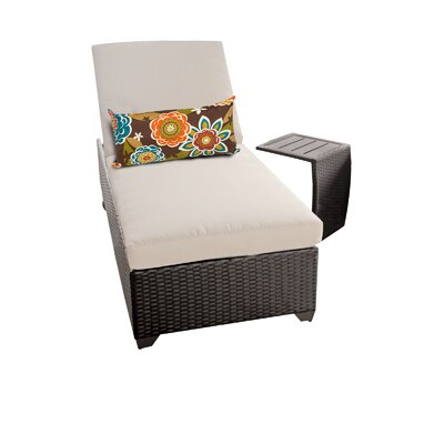Classic 2 Piece Chaise Lounge Set with Cushion Fabric: Beige