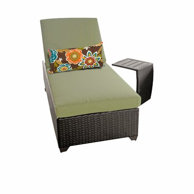 Classic 2 Piece Chaise Lounge Set with Cushion Fabric: Cilantro