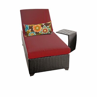Classic 2 Piece Chaise Lounge Set with Cushion Fabric: Terracotta