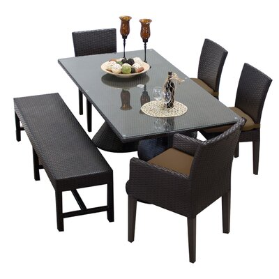 Napa 6 Piece Dining Set with Cushions Cushion Color: Cocoa