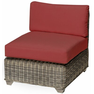 Holly Hill Slipper Chair and Ottoman Fabric: Terracotta