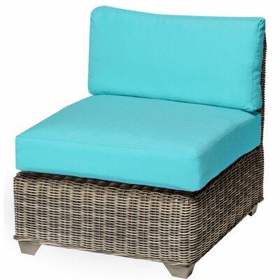 Holly Hill Slipper Chair and Ottoman Fabric: Aruba