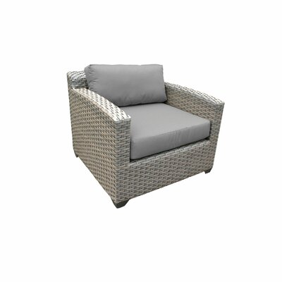 Florence Outdoor Wicker 13 Piece Sectional Seating Group with Cushion Fabric: Gray