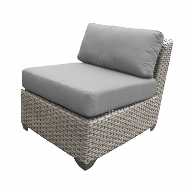 Florence Outdoor Wicker 9 Piece Deep Seating Group with Cushion Fabric: Gray
