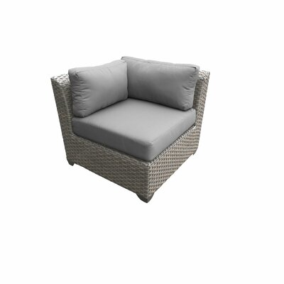 Florence Outdoor Wicker 11 Piece Sectional Seating Group with Cushion Fabric: Gray