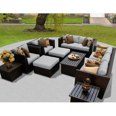 Barbados 12 Piece Deep Seating Group with Cushion Fabric: Gray