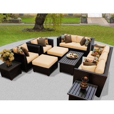 Barbados 12 Piece Deep Seating Group with Cushion Fabric: Sesame