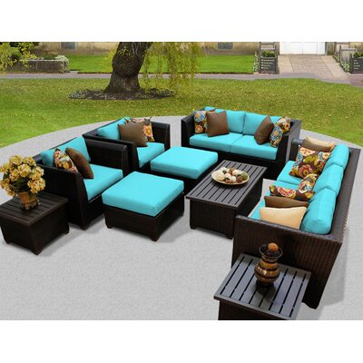 Barbados 12 Piece Deep Seating Group with Cushion Fabric: Aruba