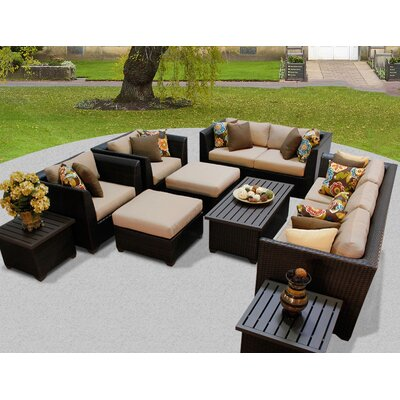 Barbados 12 Piece Deep Seating Group with Cushion Fabric: Wheat