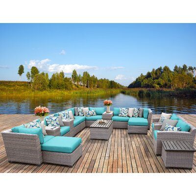 Florence 17 Piece Sectional Seating Group with Cushion Fabric: Aruba