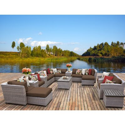 Florence 17 Piece Sectional Seating Group with Cushion Fabric: Cocoa