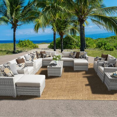 Fairmont 17 Piece Sectional Seating Group with Cushion Fabric: Beige