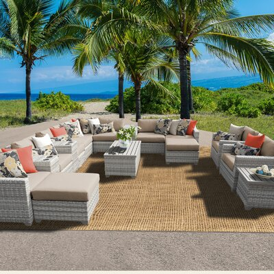 Fairmont 17 Piece Sectional Seating Group with Cushion Fabric: Wheat