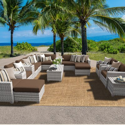 Fairmont 17 Piece Sectional Seating Group with Cushion Fabric: Cocoa