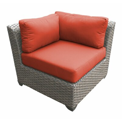Florence Corner Sectional Piece with Cushions Fabric: Tangerine