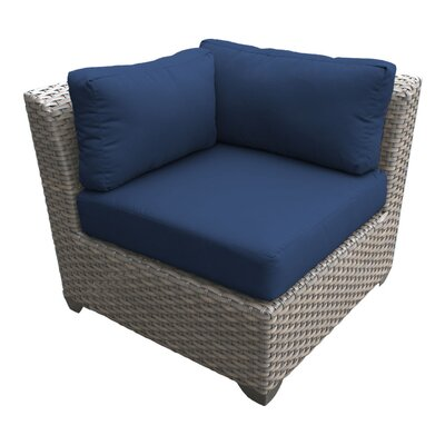 Florence Corner Sectional Piece with Cushions Fabric: Navy