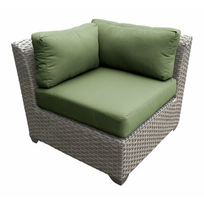 Florence Corner Sectional Piece with Cushions Fabric: Cilantro