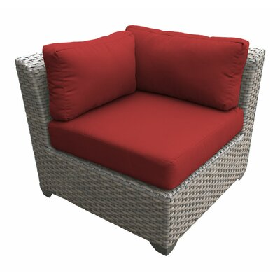 Florence Corner Sectional Piece with Cushions Fabric: Terracotta