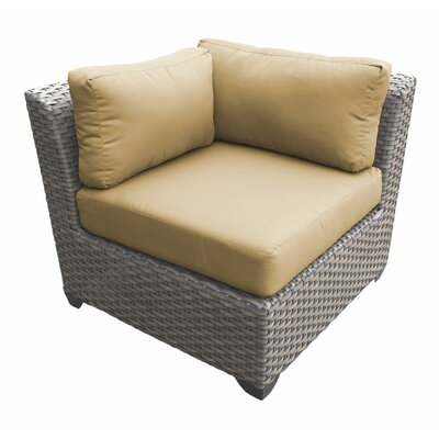 Florence Corner Sectional Piece with Cushions Fabric: Sesame