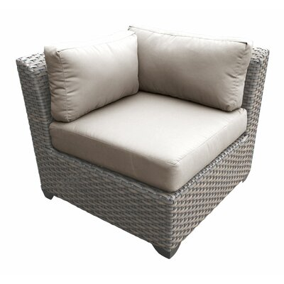 Florence Corner Sectional Piece with Cushions Fabric: Beige