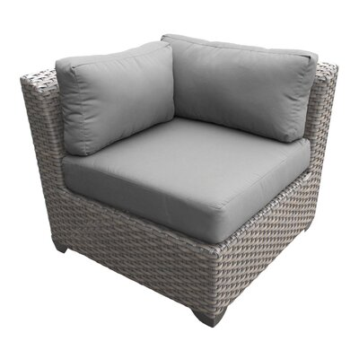 Florence Corner Sectional Piece with Cushions Fabric: Gray