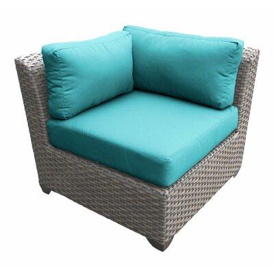 Florence Corner Sectional Piece with Cushions Fabric: Aruba