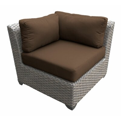 Florence Corner Sectional Piece with Cushions Fabric: Cocoa