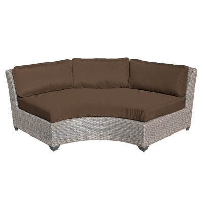 Florence Sofa with Cushions Fabric: Cocoa