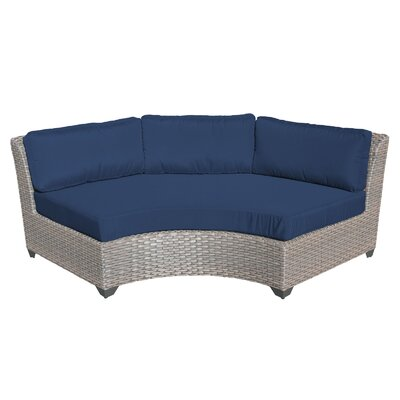 Florence Sofa with Cushions Fabric: Navy