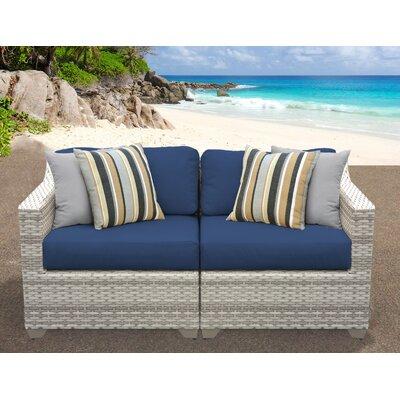 Fairmont Sofa With Cushions Fabric: Navy