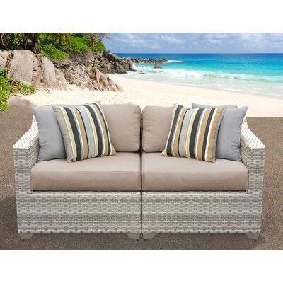 Fairmont Sofa With Cushions Fabric: Wheat