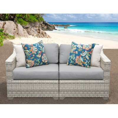 Fairmont Sofa With Cushions Fabric: Grey
