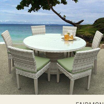 Fairmont 7 Piece Dining Set with Cushions Cushion Color: Cilantro