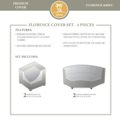 Florence 4 Piece Sofa Cover Set