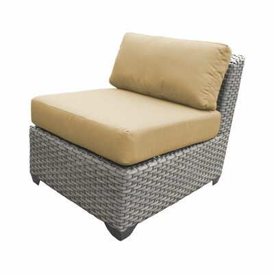 Florence Armless Sectional Piece with Cushions Fabric: Gray