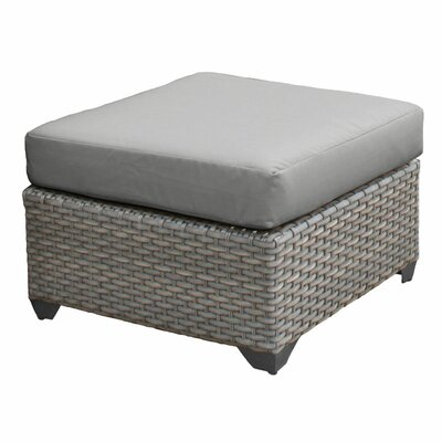 Florence Ottoman with Cushion Fabric: Gray