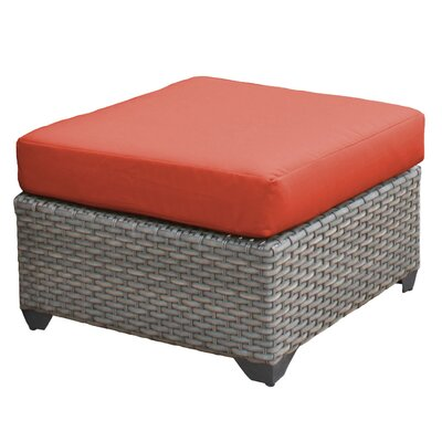 Florence Ottoman with Cushion Fabric: Tangerine