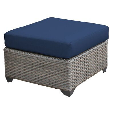 Florence Ottoman with Cushion Fabric: Navy