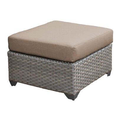Florence Ottoman with Cushion Fabric: Wheat