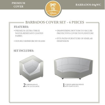 Barbados 4 Piece Cover Set