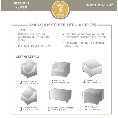 Barbados 10 Piece Cover Set